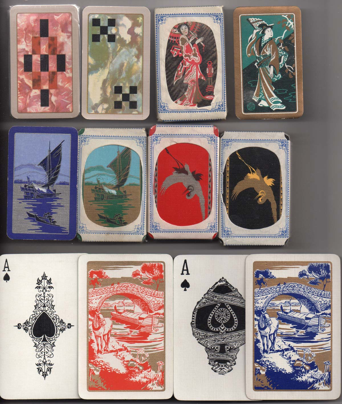 Playing cards printed by Mardon, De la Rue, Universal and Waddingtons for the Wills gift scheme, 1933-34
