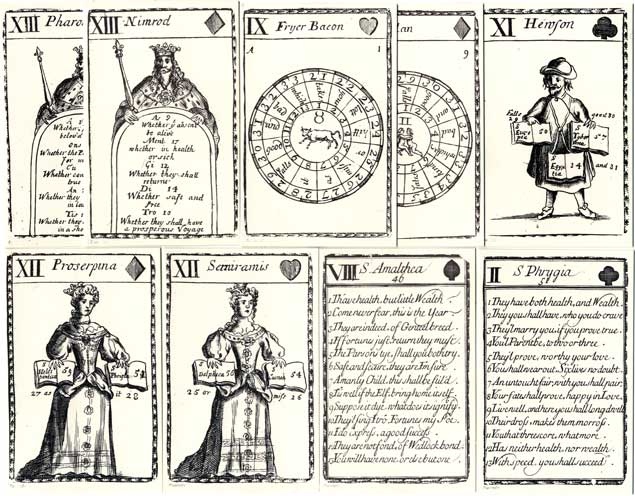 facsimile edition of Lenthall's Fortune-Telling Cards, c.1714