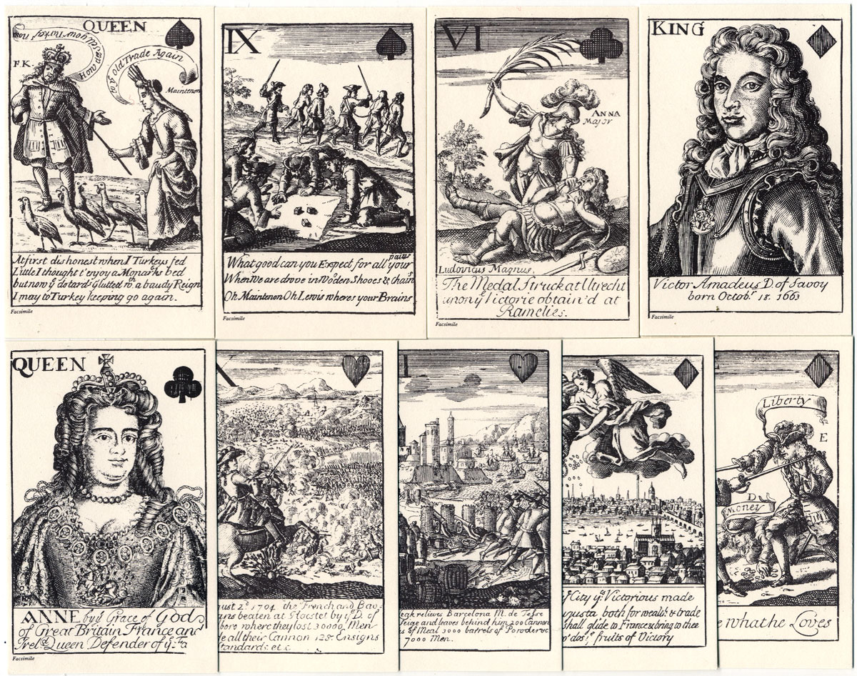 Marlborough's Victories Playing Cards