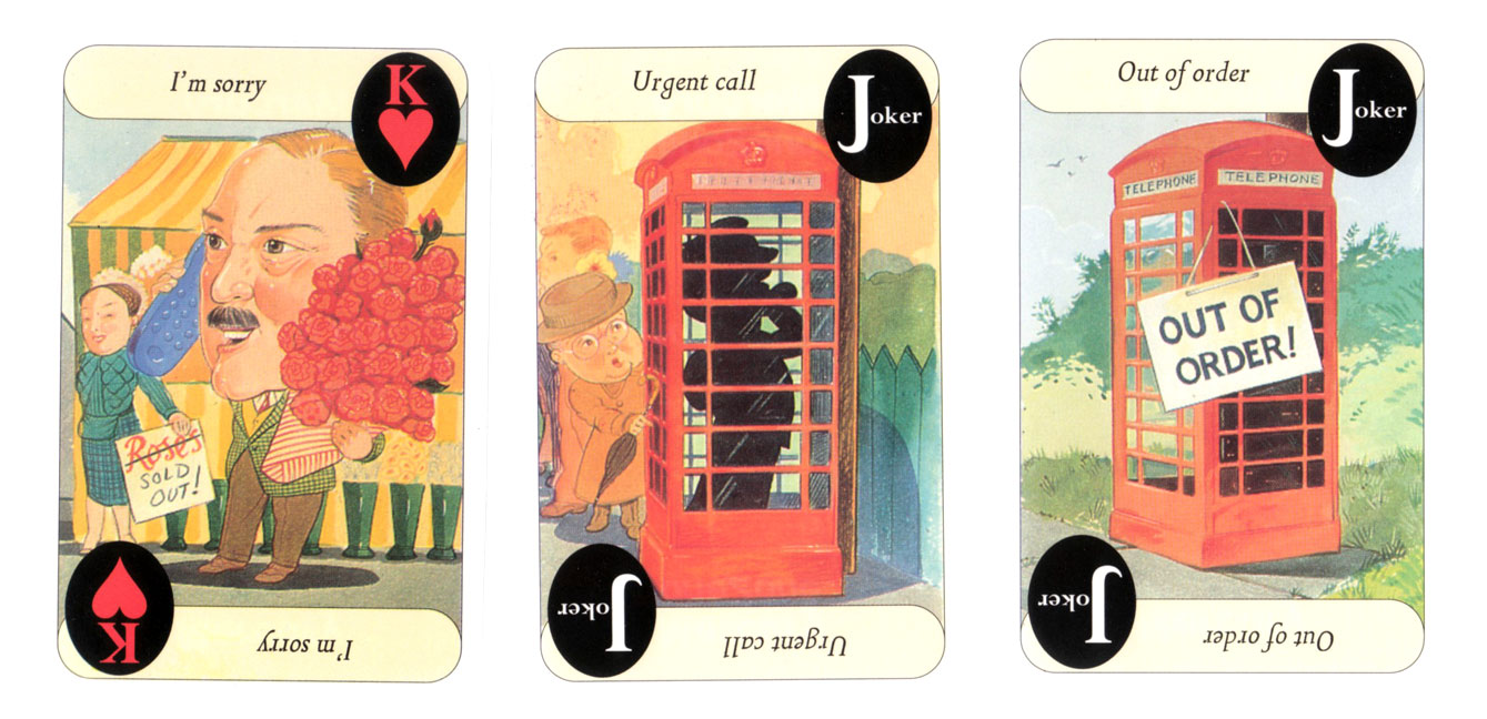 Mercury 'One-2-One Situations' playing cards published by Mercury Communications