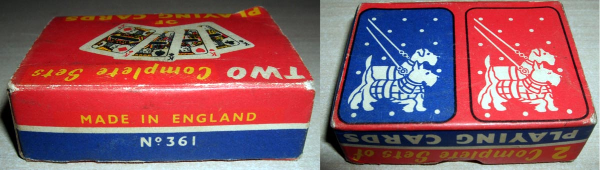 miniature novelty playing cards from the late 1940s or early 1950s