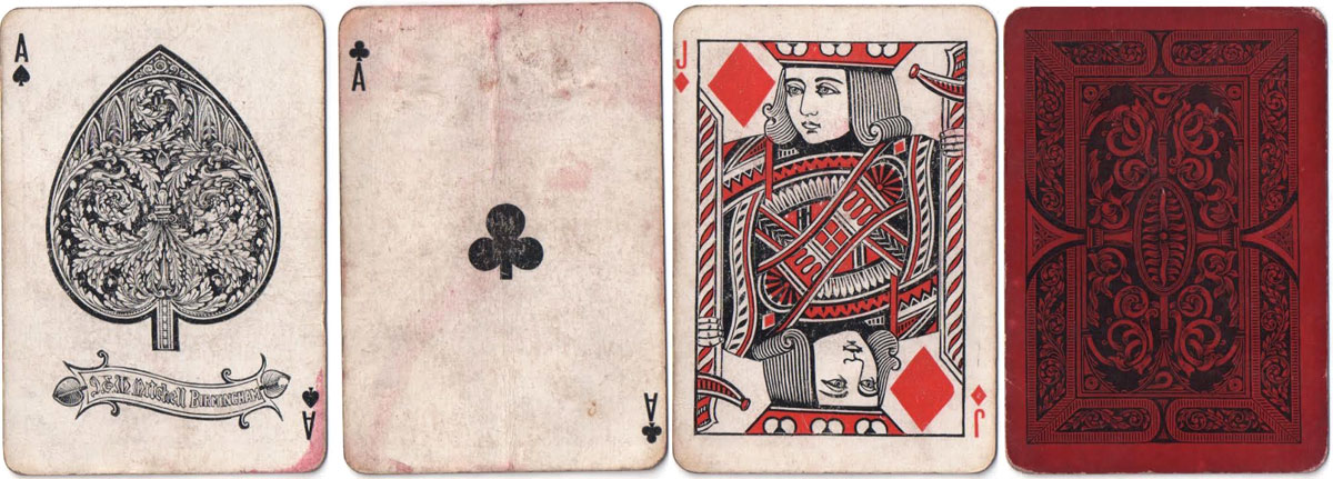 Playing cards manufactured by J & W Mitchell, Birmingham, c.1880