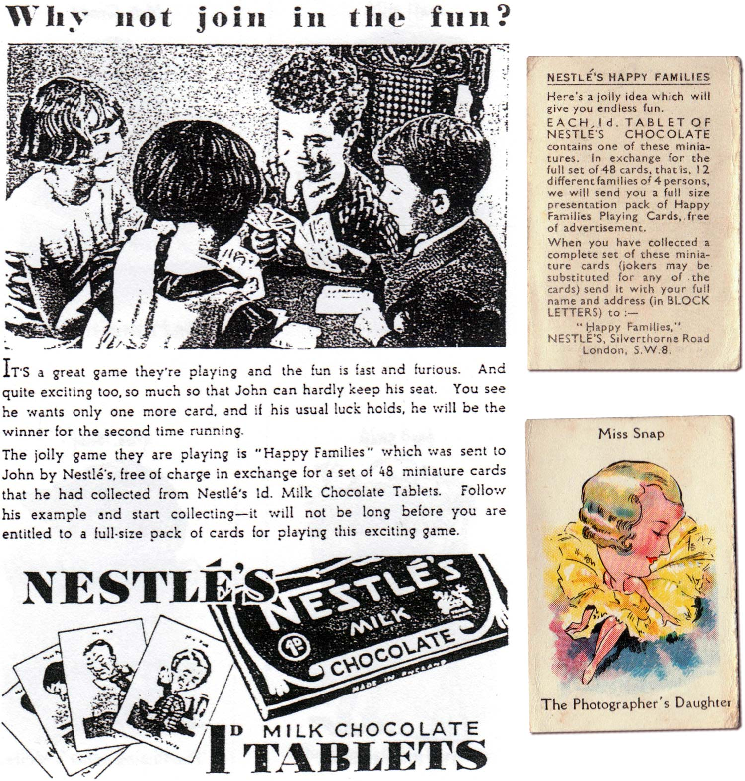 'Happy Families' published by Nestlé in 1935
