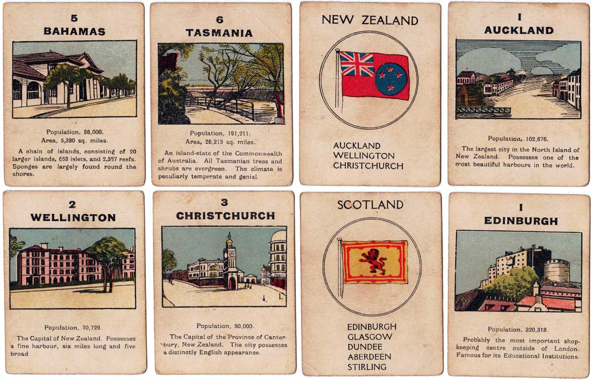 The British Empire card game published by Norvic Mill, c.1920