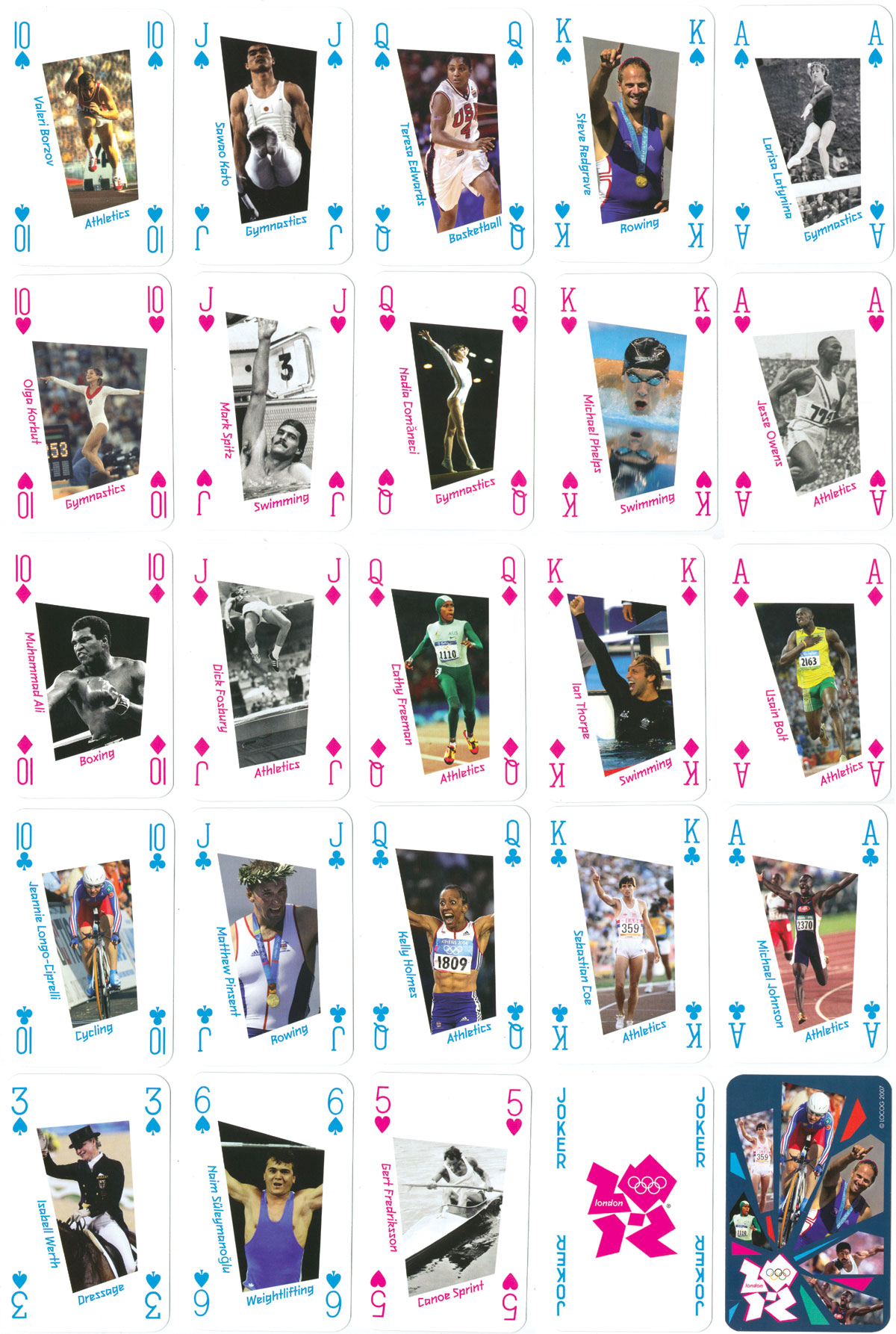 playing cards commemorating the Olympic Games 2012, London, by Winning Moves under license from LOCOG