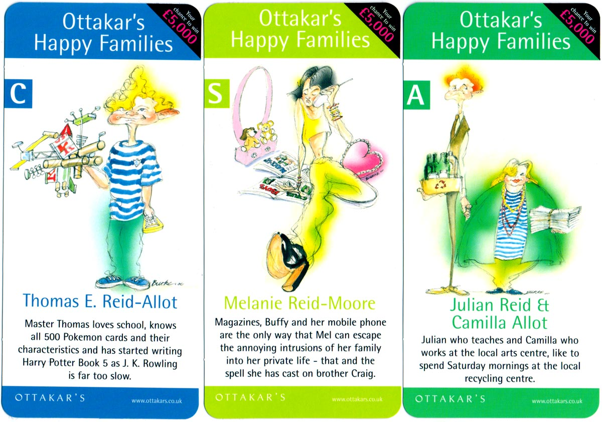 Ottakar's Happy Families designed by Chris Burke, 2000