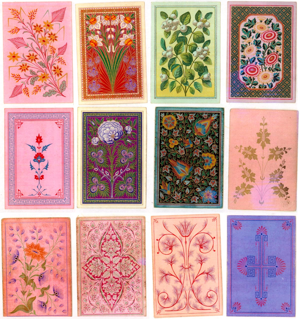 playing cards designed by Owen Jones (1809-1874)