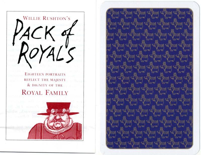 """Willie Rushton's """"Pack of Royals"""", 1995"""