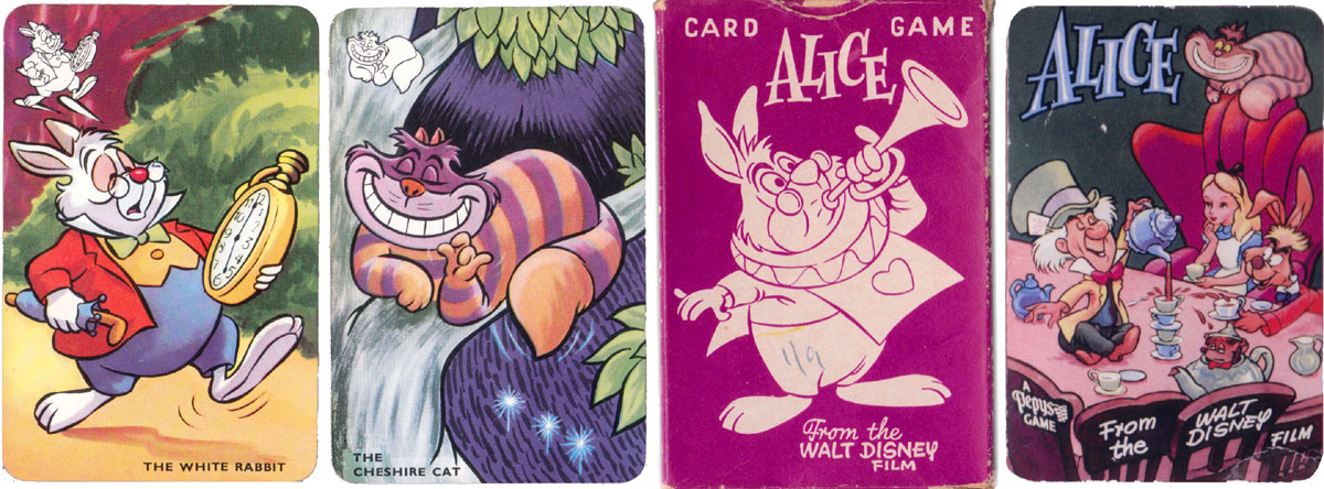 """Alice card game published by Pepys in 1952, based on the Walt Disney film """"Alice in Wonderland"""""""