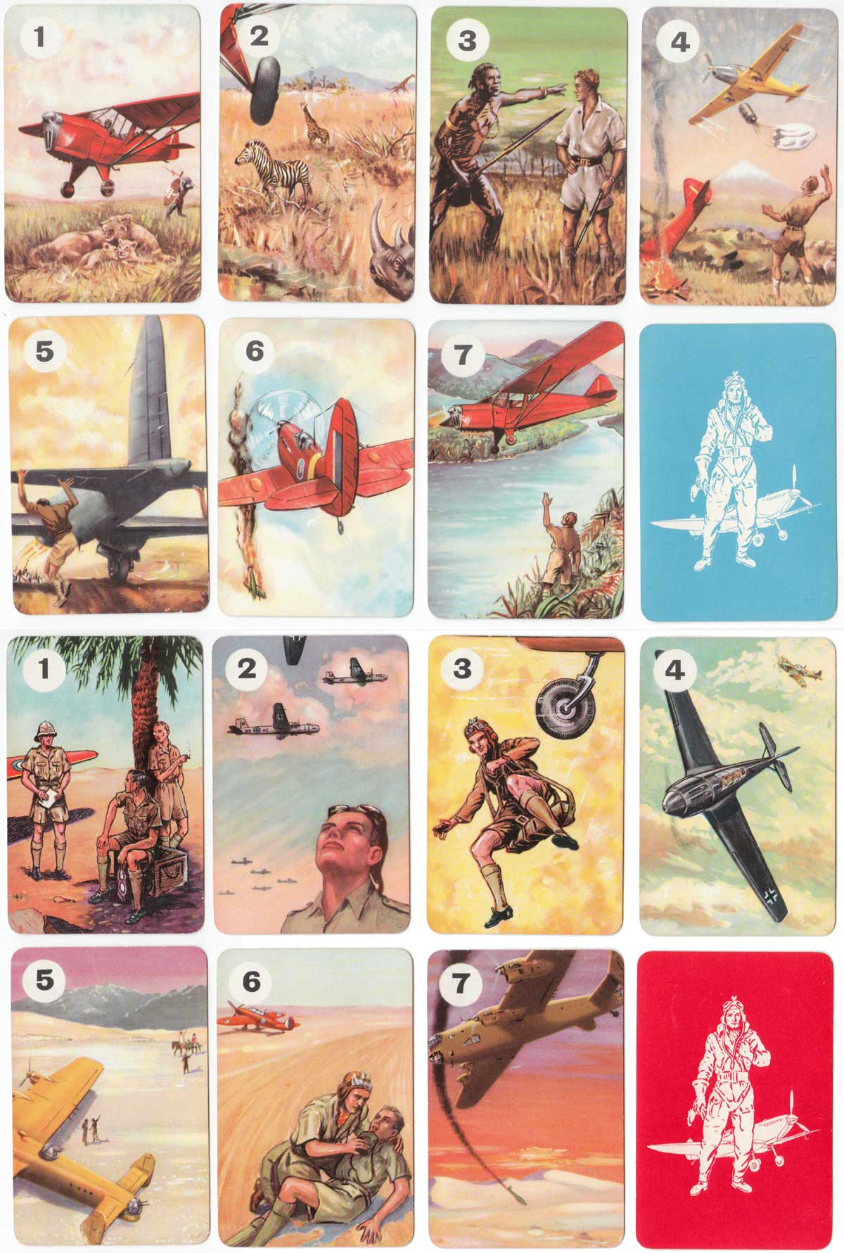 Biggles card game published by Pepys Games in 1955 based on the popular books by Capt W E Johns