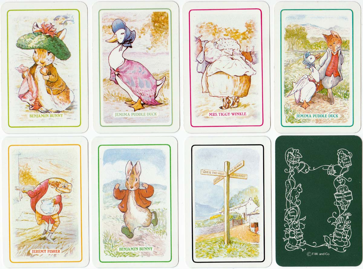 Beatrix Potter's Rummy published by Gibsons Games, c.1985