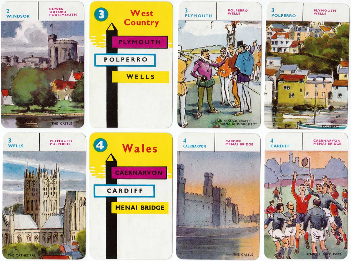 British Towns Card Game by Pepys Games (Castell Brothers Limited)