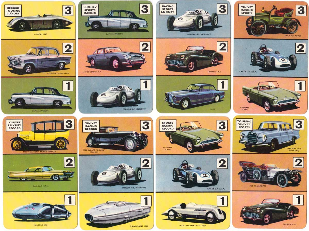 The Car Game with artwork by Barry Rowe, published by Pepys, c.1960