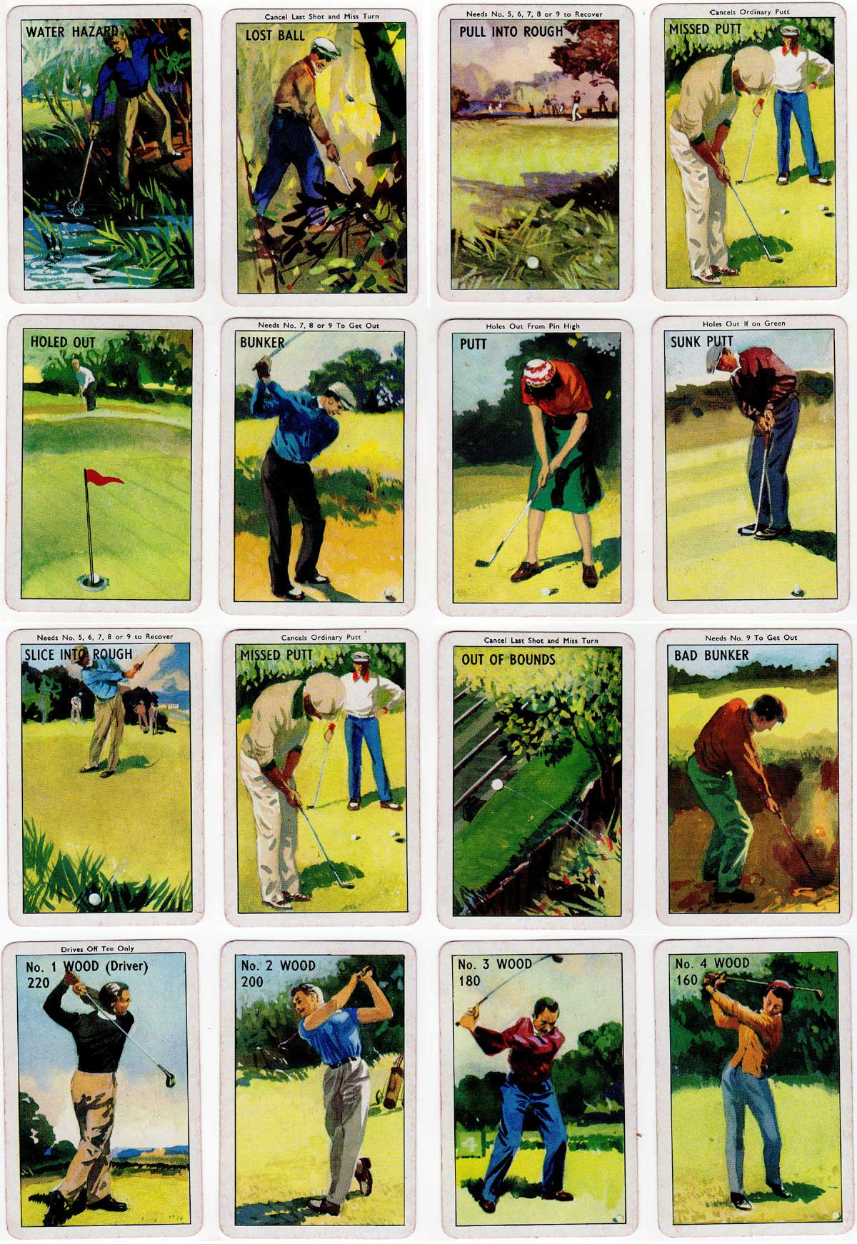 Card Golf published by Pepys Games, c.1960
