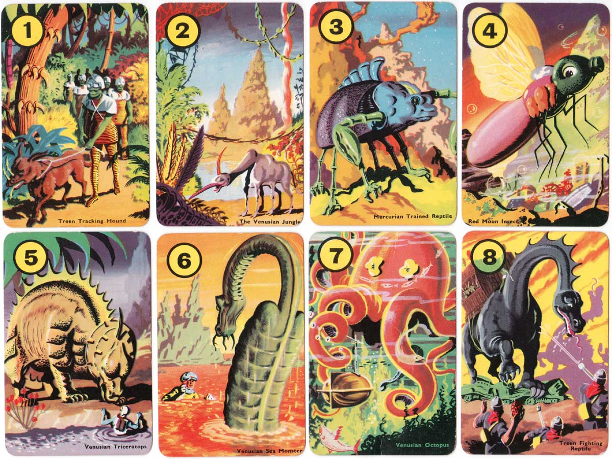Dan Dare sci-fi card game with illustrations by Frank Hampson, Pepys Series, 1953