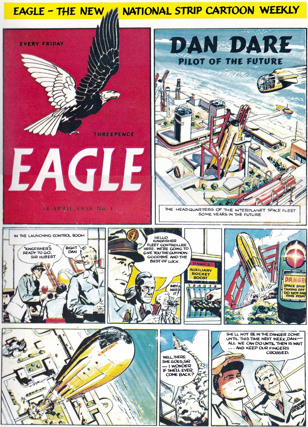 1st copy of Eagle, 14th April 1950