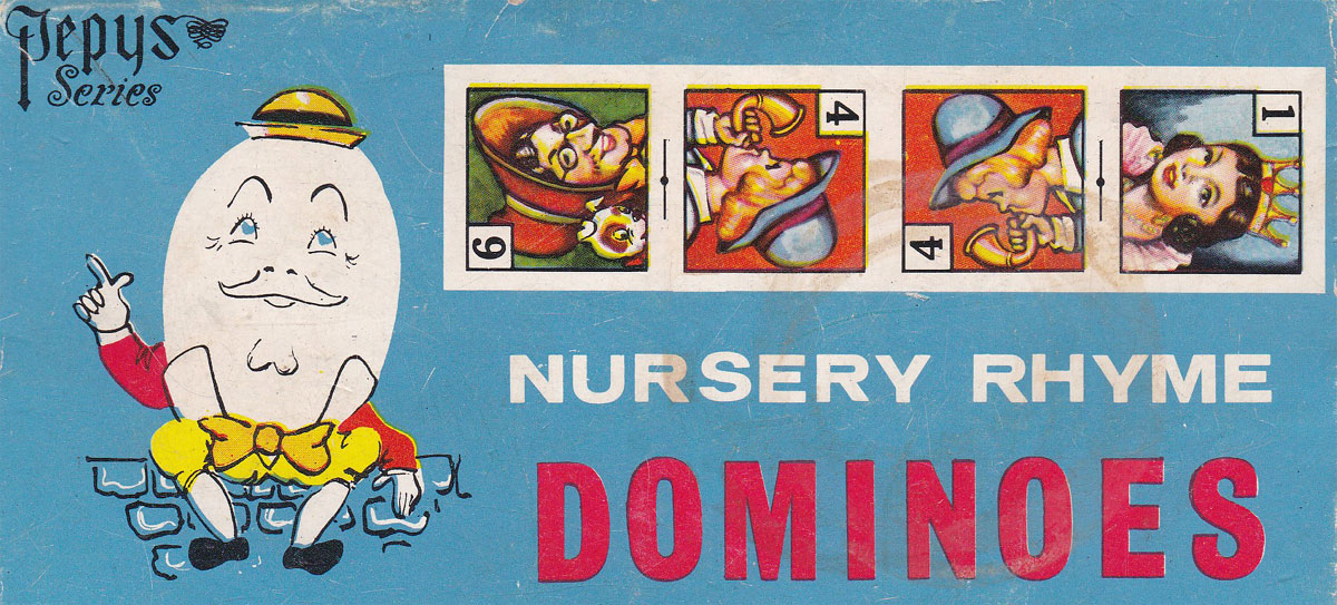 8 different pictorial domino games were published by Pepys between c.1930 - 1950s