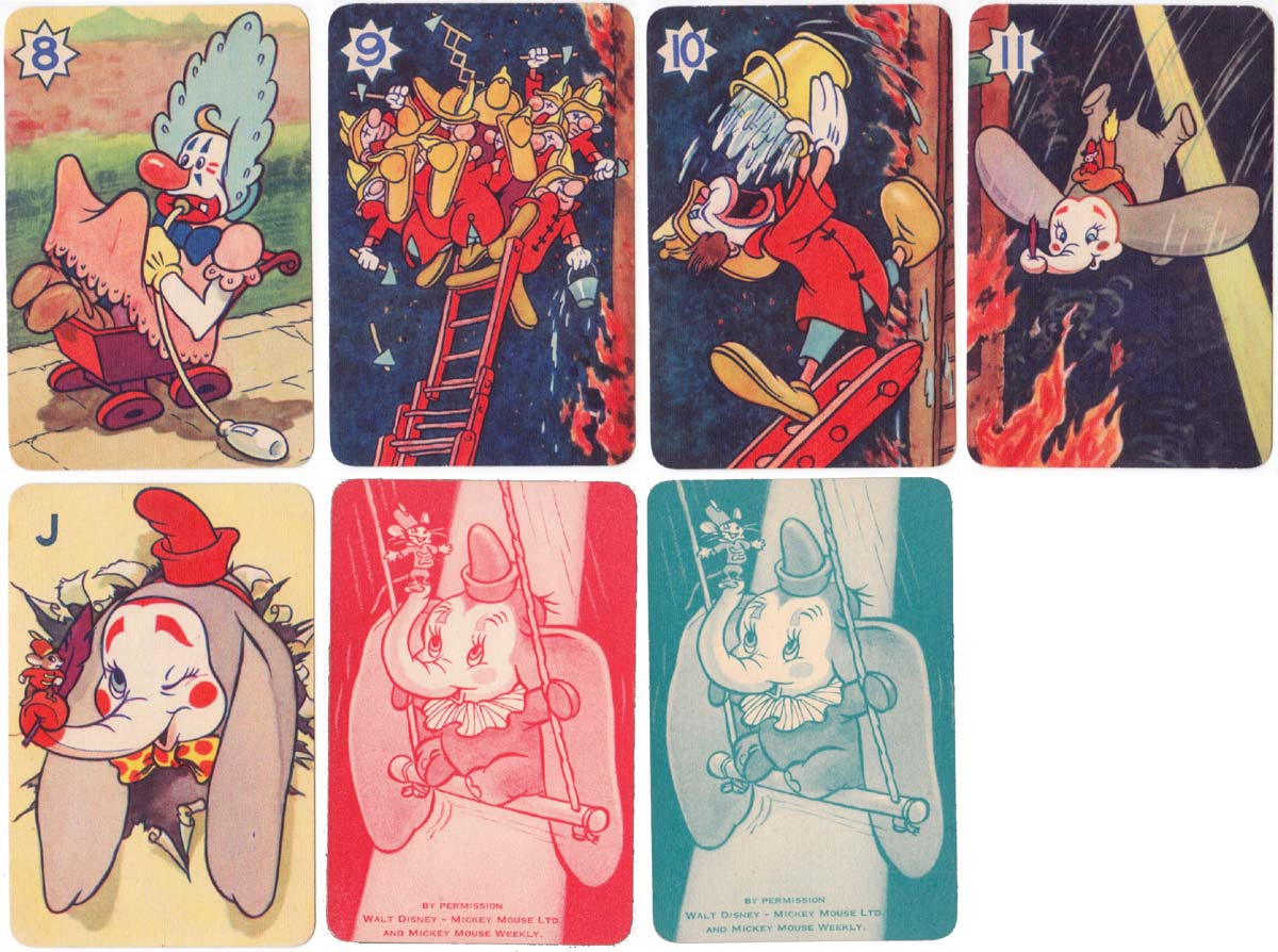 Walt Disney's Dumbo card game published by Pepys, 1939