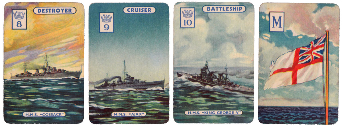 'England Expects' card game published by Pepys Games in 1940