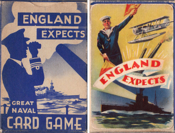 Box from 'England Expects' card game published by Pepys Games in 1940