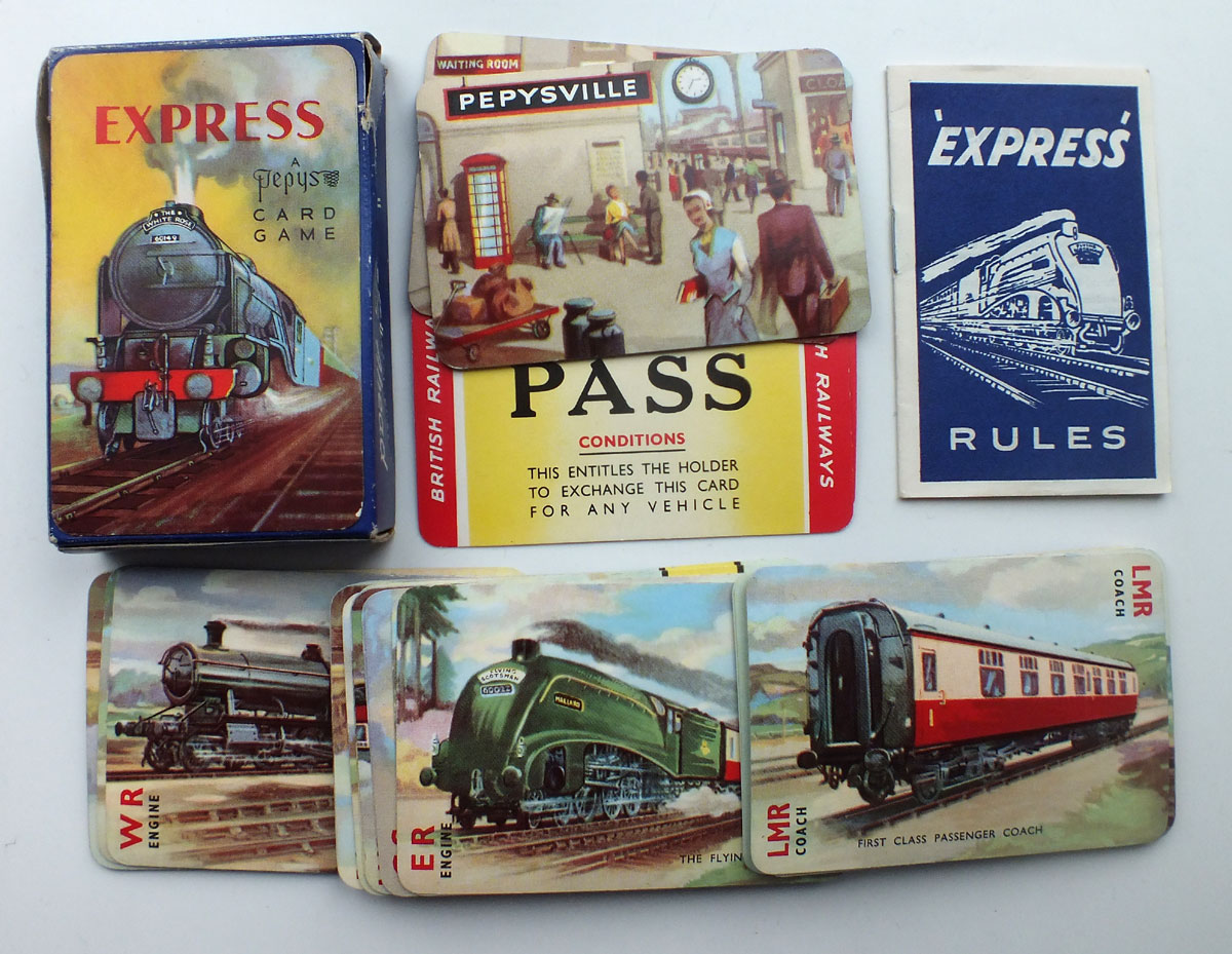 "Pepys ""Express"" card game 2nd edition c.1955"