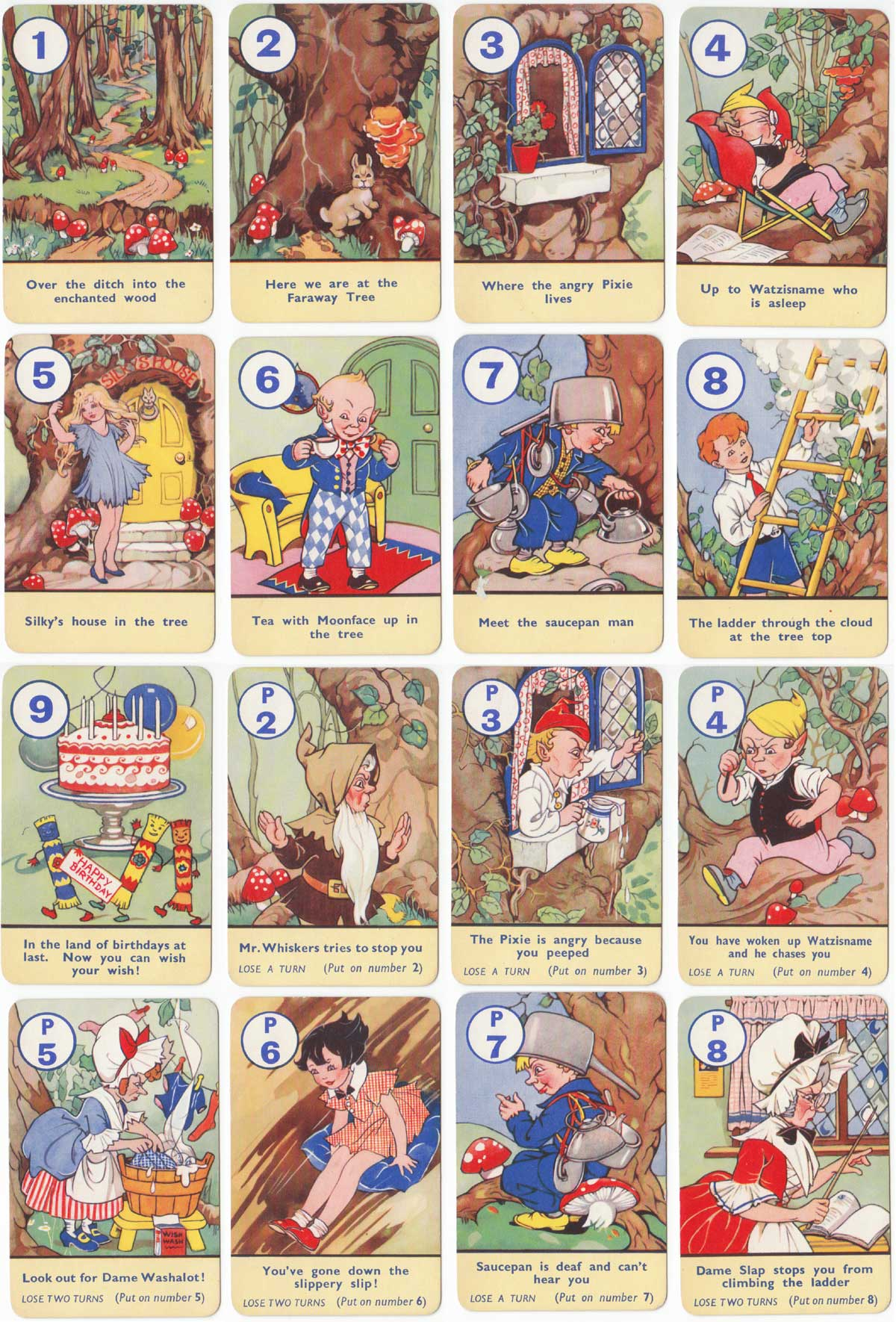 Faraway Tree published by Pepys Games in 1950 based on the stories by Enid Blyton