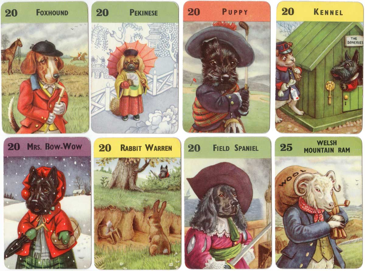 Farmyard Cries card game published by Pepys Games, 1952
