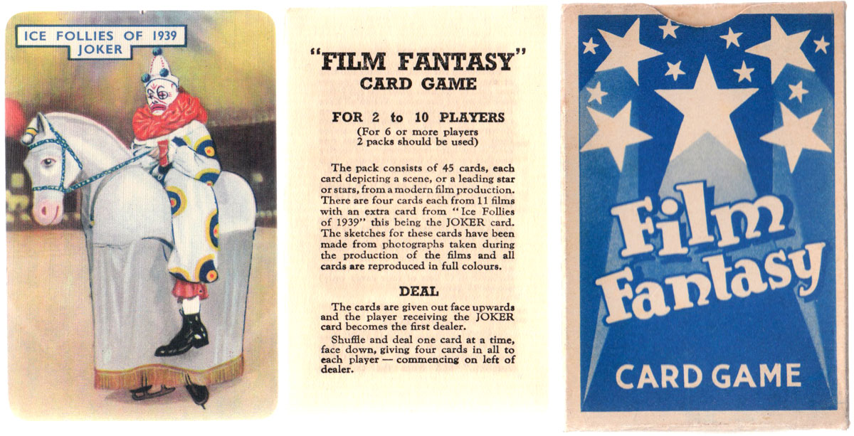 "Pepys ""Film Fantasy"" card game, 1939"