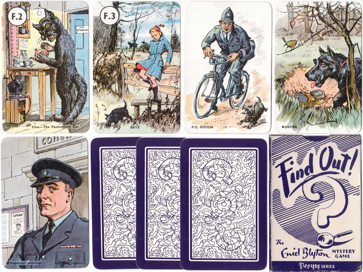 Find Out mystery card game published by Pepys, 1958