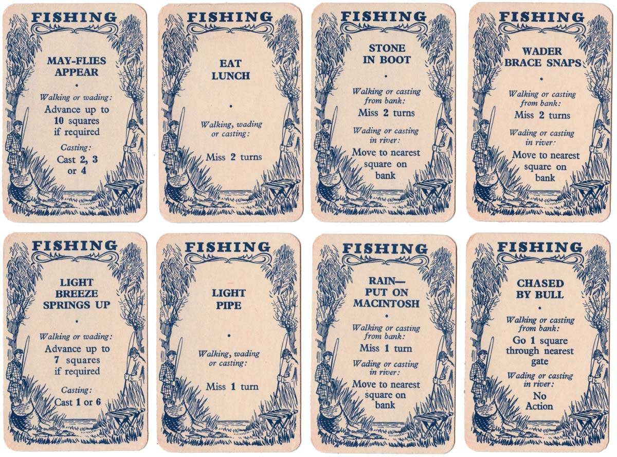 Cards from Fishing published by Pepys Games, 1951