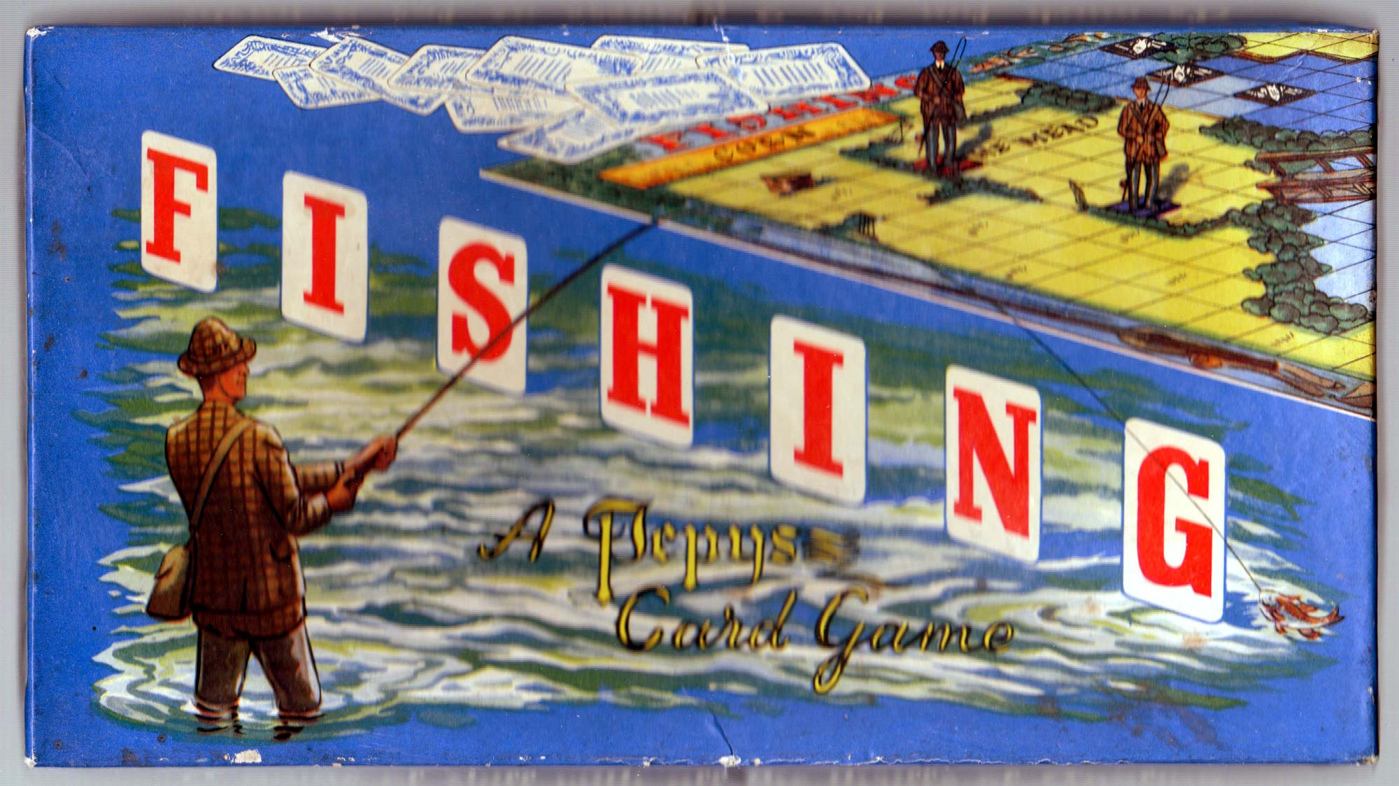 Box for Fishing published by Pepys Games, 1951
