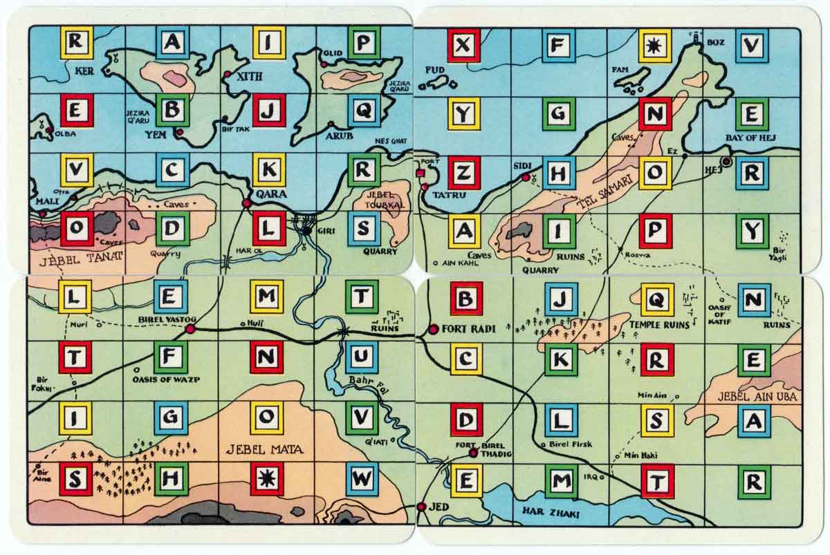 Foreign Legion map cards published by Pepys, 1960