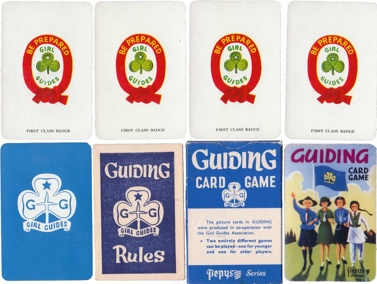 Guiding card game published by Pepys in co-operation with the Girl Guides Association, 1958