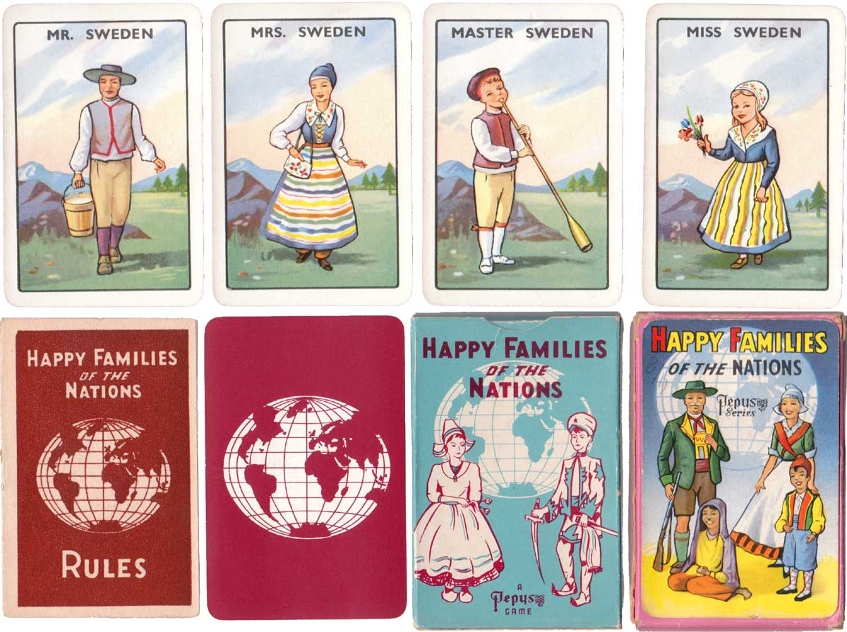 Happy Families of the Nations published by Pepys Games, 1958