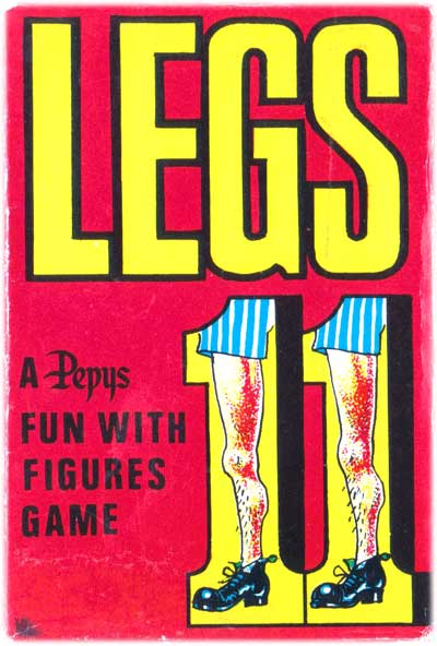 Legs Eleven card game by Pepys, 1974