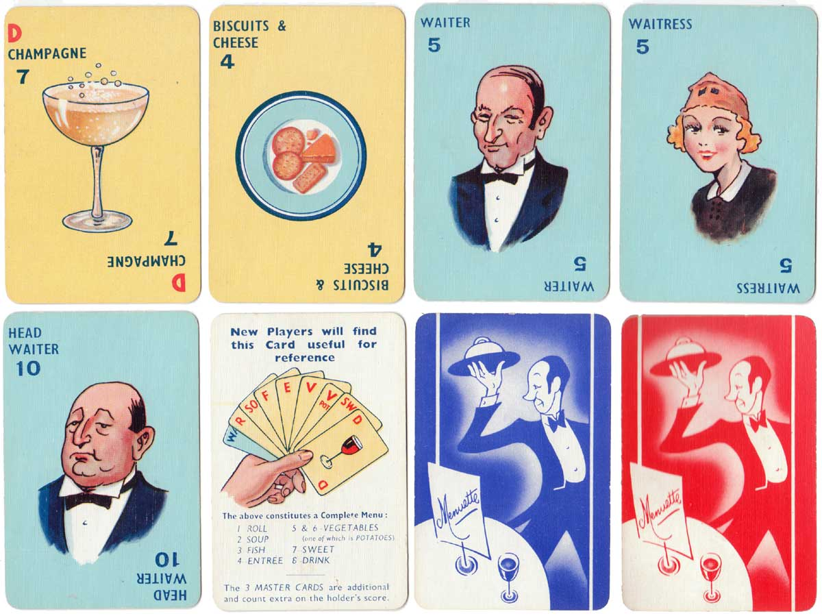 Menuette published by Pepys Games, 1947