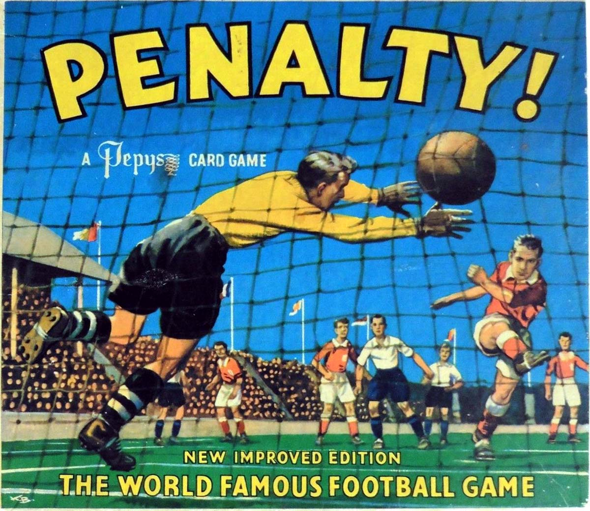 Penalty was invented by Ernesto Scoia of Milan and published the UK by Pepys in the 1960s