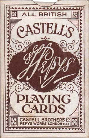 Castell's Pepys playing cards, c.1935