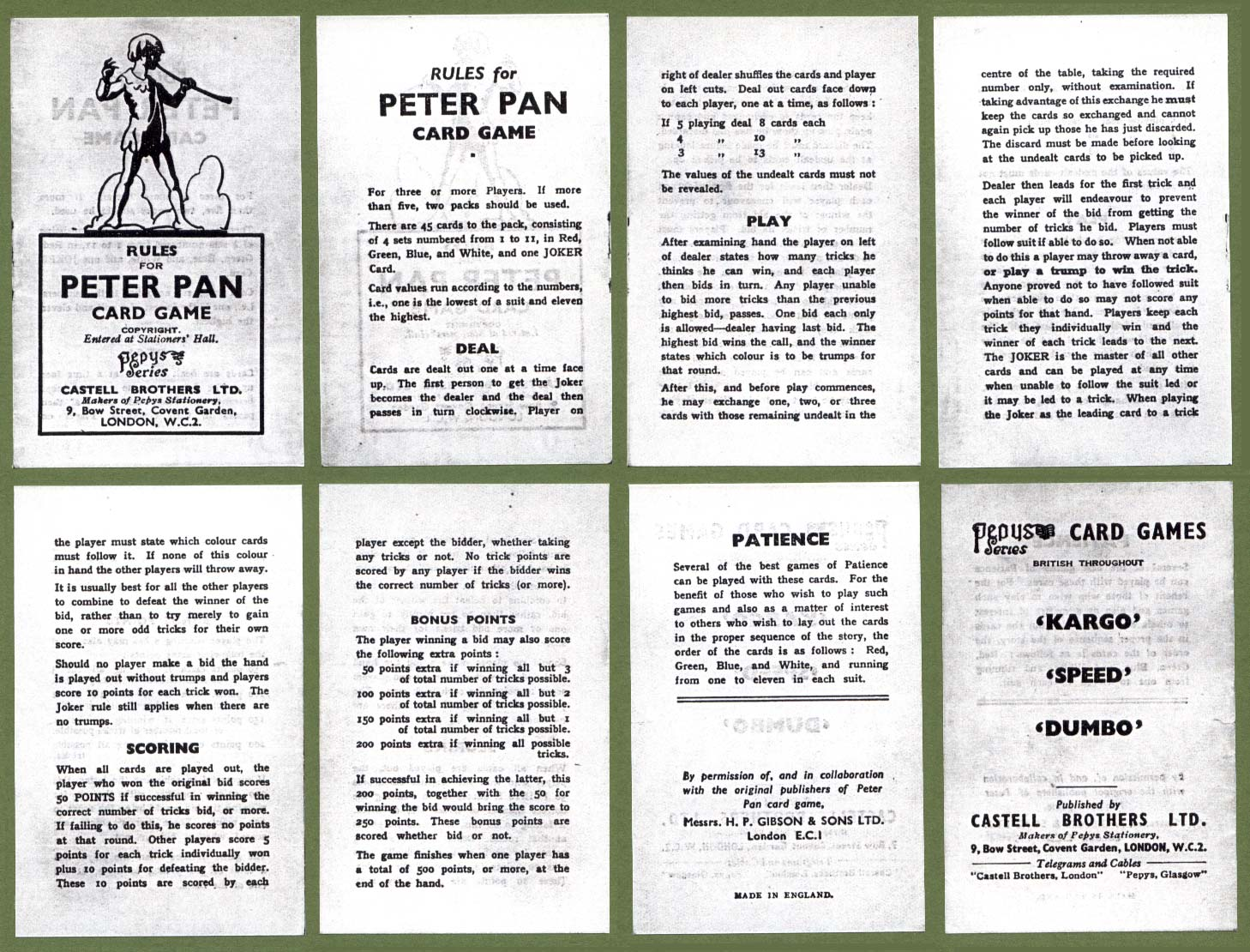 Peter Pan The World Of Playing Cards
