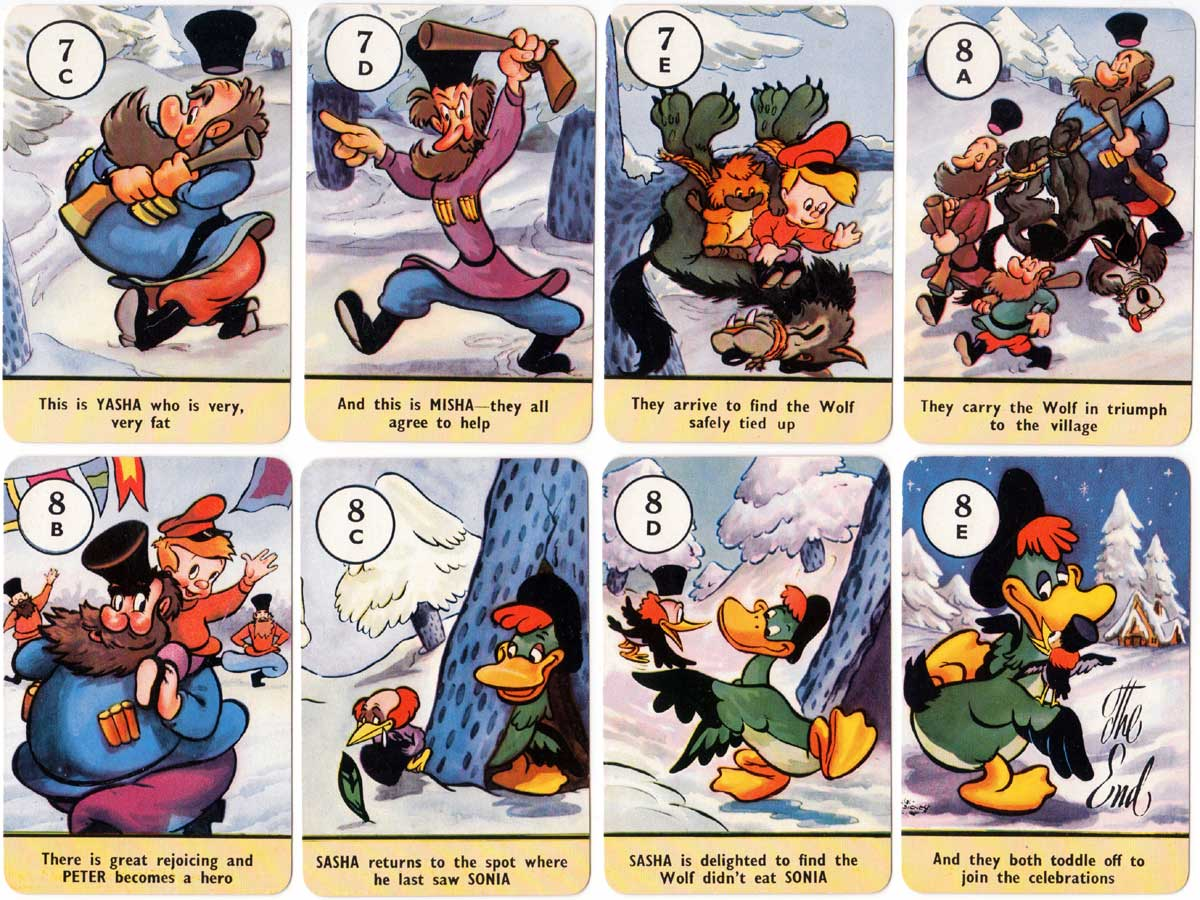 Peter and the Wolf card game published by Pepys Games, 1947