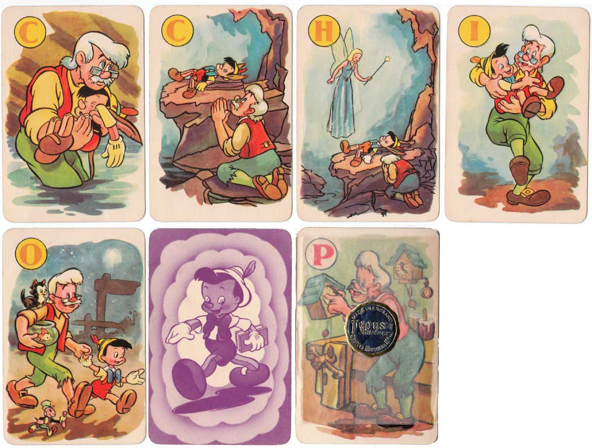Pinocchio card game published by Pepys Games, 1940