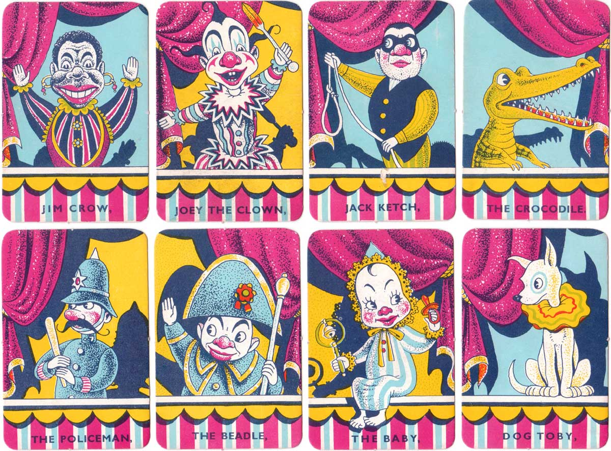Punch and Judy card game published by Pepys, 1956