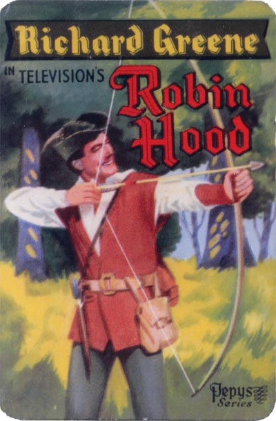 Robin Hood card game published by Pepys, 1956