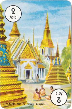 Round the World card game published by Pepys, 1961