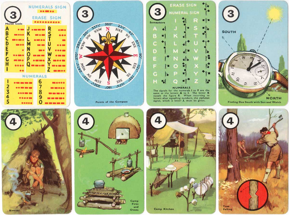 Scouting card game published by Pepys (Castell Bros) in 1955