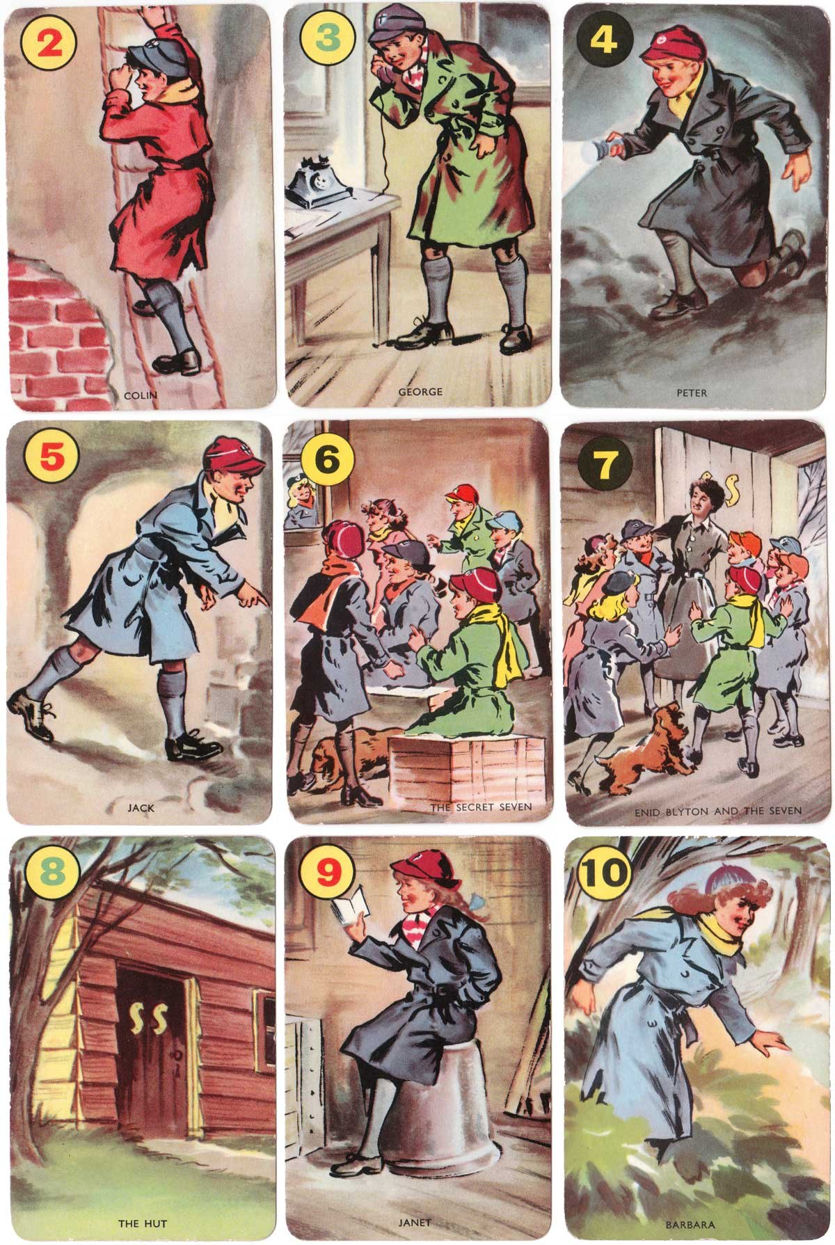 Secret Seven card game by Pepys, 1955