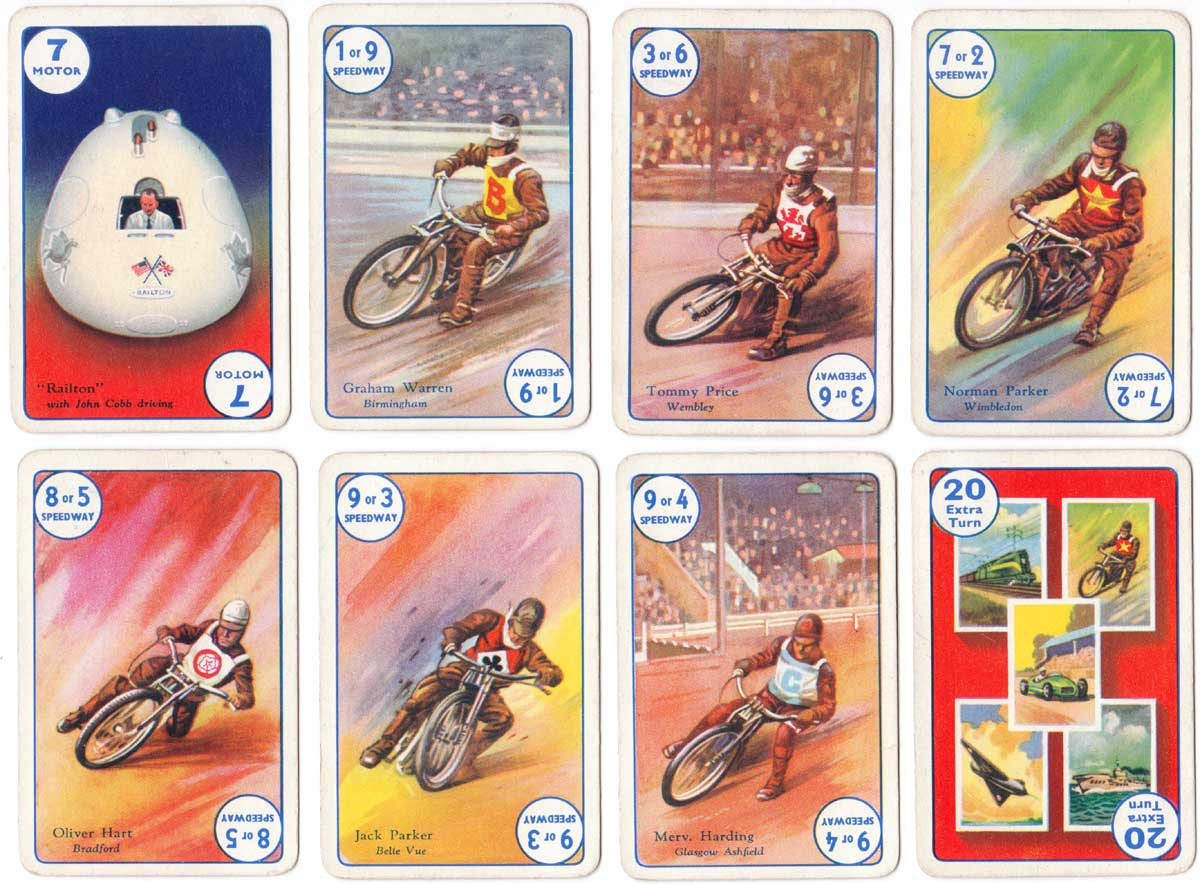 cards from the 5th edition of Speed, 1954