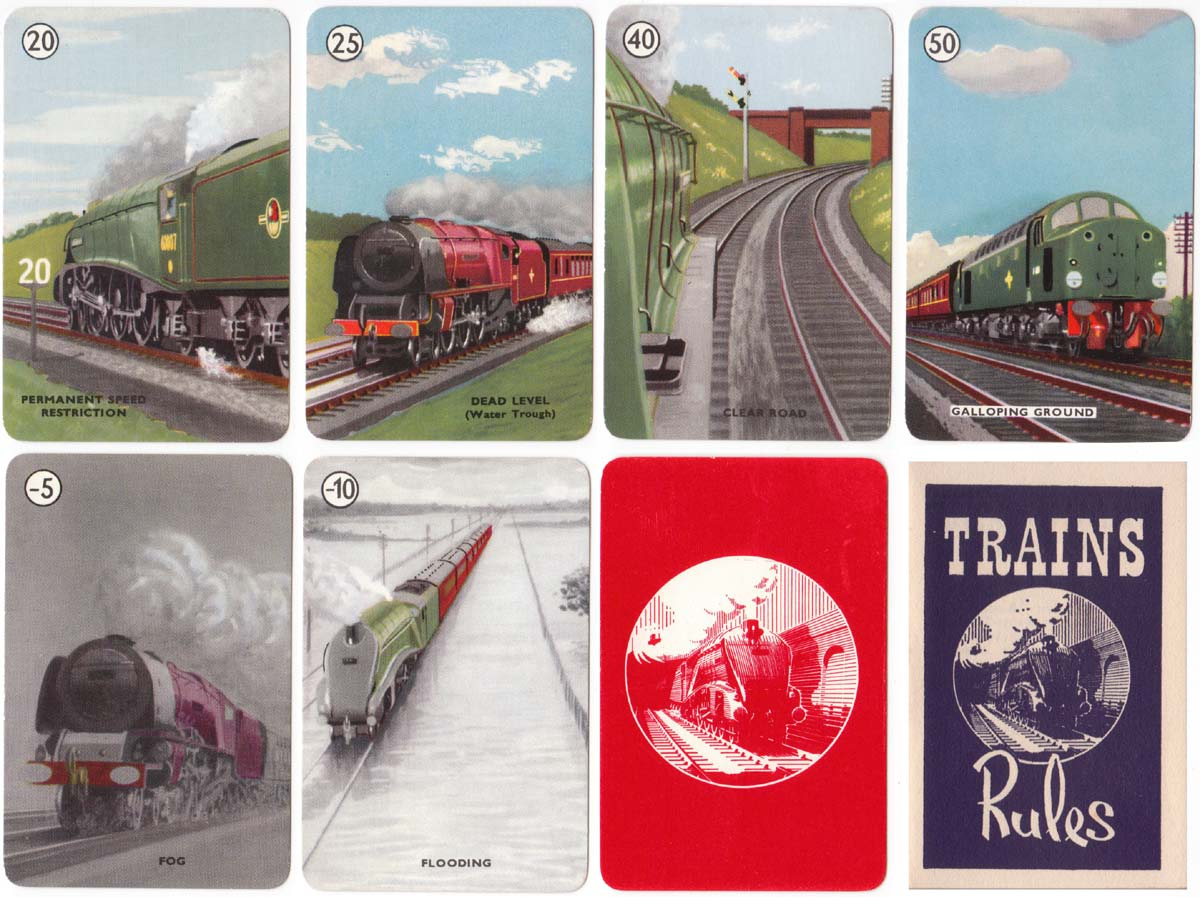 Trains card game published by Pepys, 1962