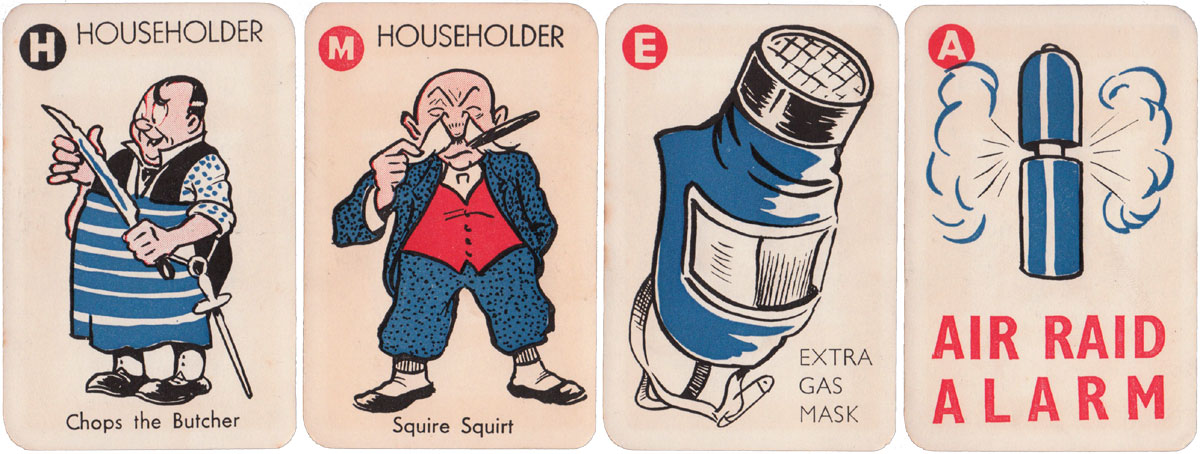 """Vacuation"" published by Pepys games during WW2, c.1940"