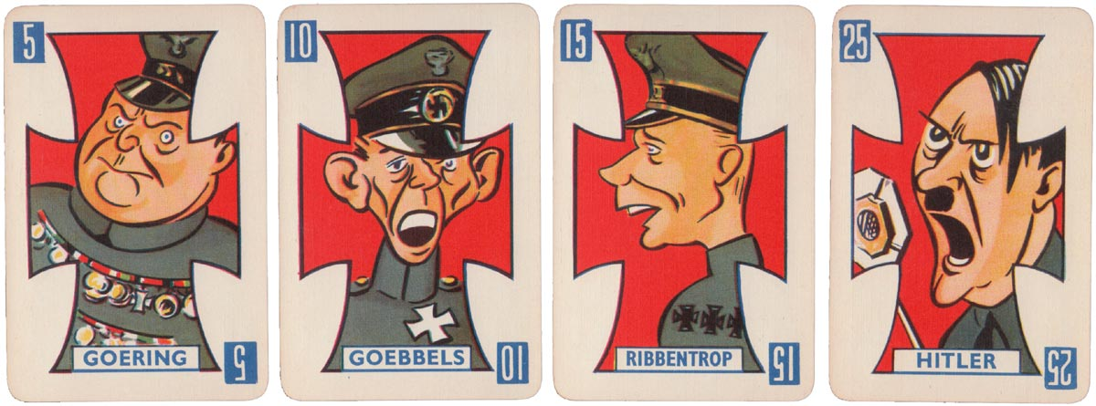 """Victory"", a splendid game with caricatures of British and German leaders, registered to Castell Bros in December 1939"